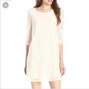 Ivory Lace Everly Shift Dress